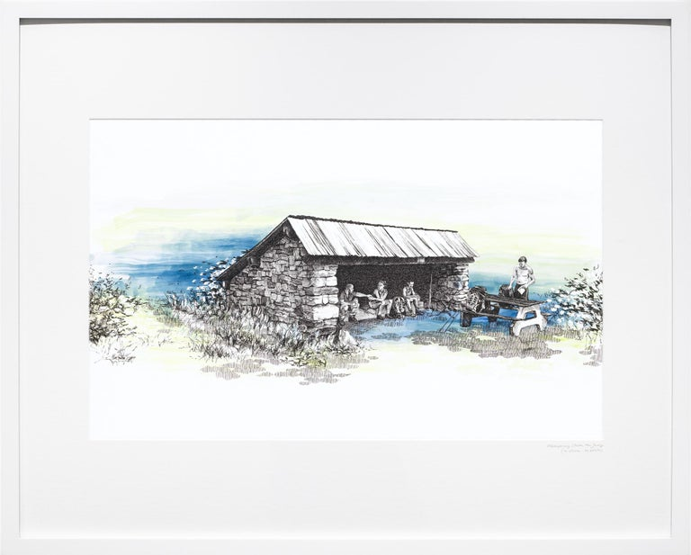 Mashipacong Shelter, New Jersey, [ 41.25216, -74.68594 ] - Art by Sarah Kaizar