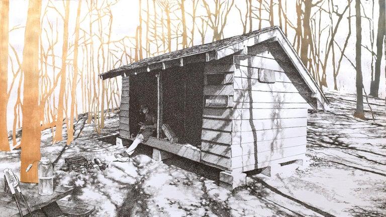 Sarah Kaizar Figurative Art - Knob Maul Shelter, Virginia, [ 37.0008, -8140446 ]