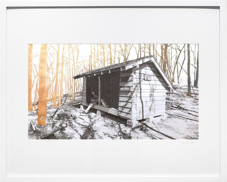 Knob Maul Shelter, Virginia, [ 37.0008, -8140446 ] - Art by Sarah Kaizar
