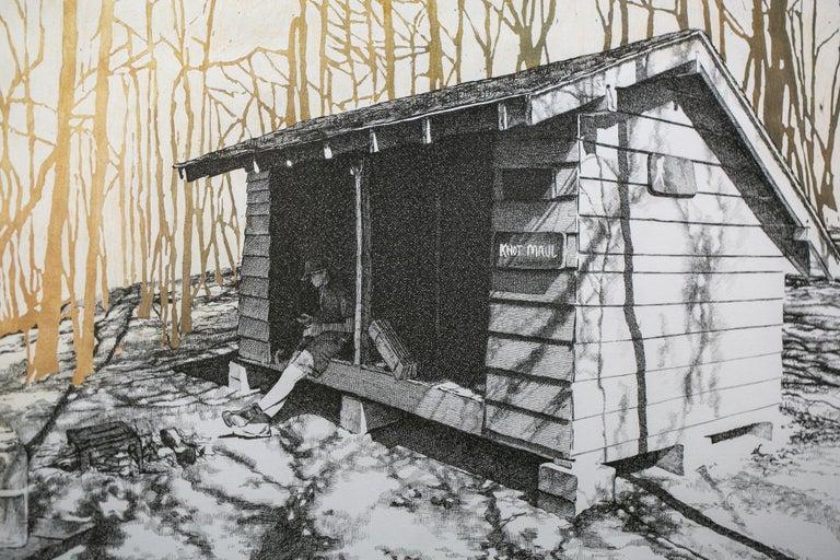 Knob Maul Shelter, Virginia, [ 37.0008, -8140446 ] - Contemporary Art by Sarah Kaizar