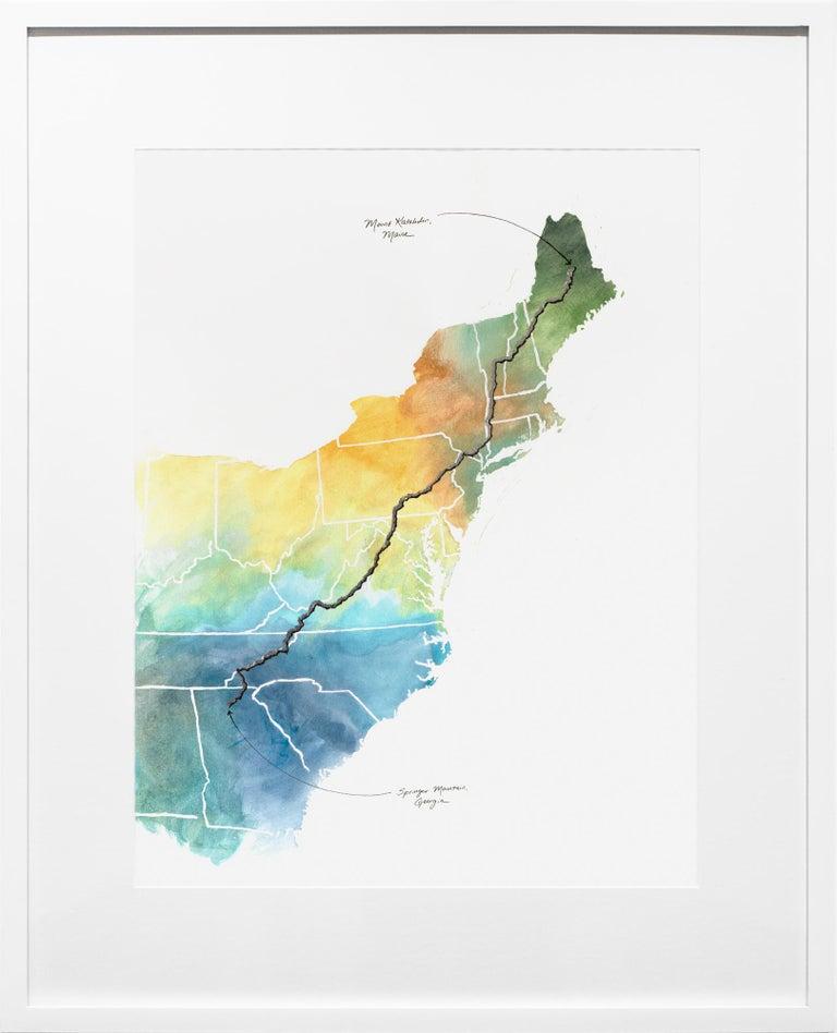Sarah Kaizar Figurative Art - Appalachian Trail Map