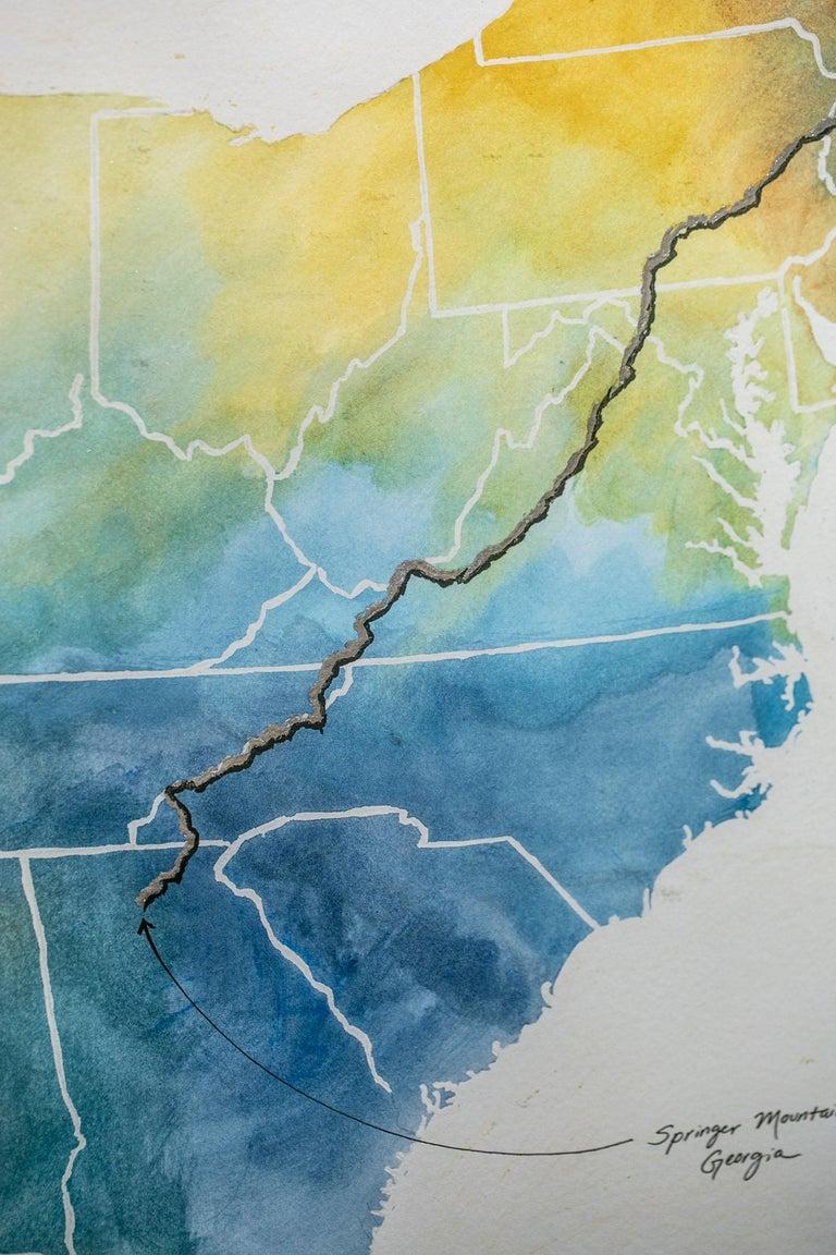 Appalachian Trail Map - Art by Sarah Kaizar