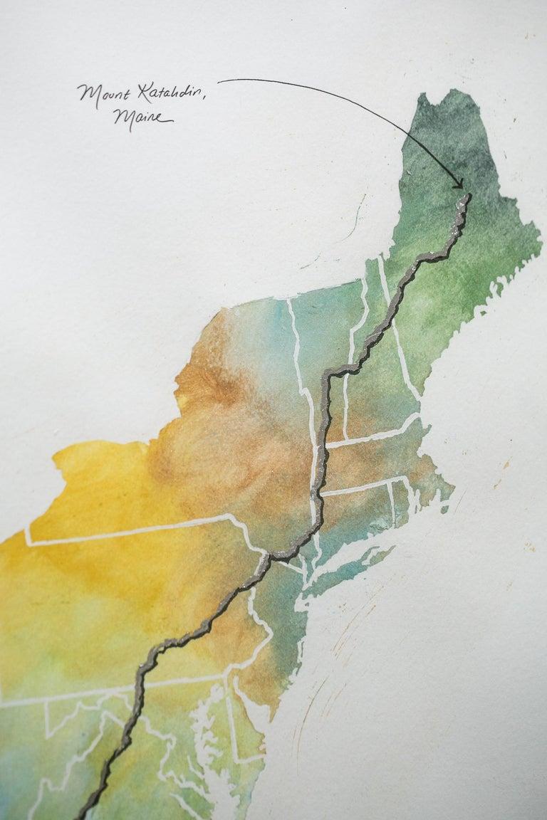Appalachian Trail Map - Contemporary Art by Sarah Kaizar