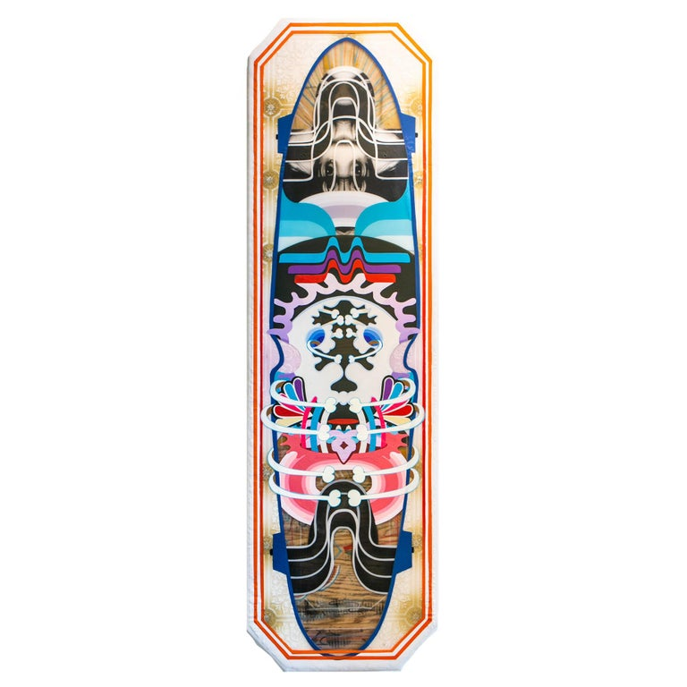 Adam Crawford Abstract Painting - Long Board #1