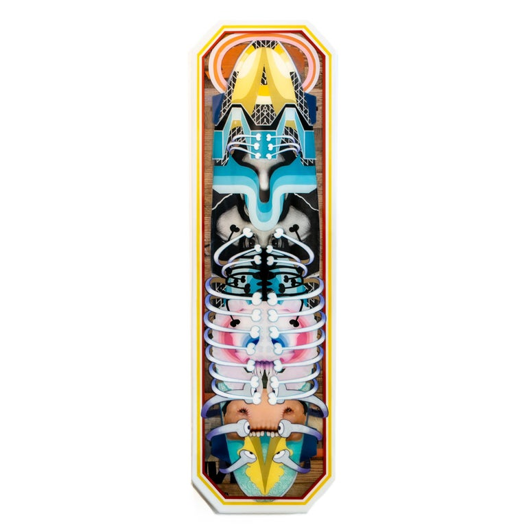 Adam Crawford Abstract Painting - Long Board #2