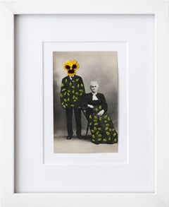 """Wallflowers: Yellow pansy"", Floral Motif Surreal Hand-Embroidered Photograph"