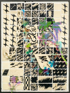 """""""Wall Fragment No. 2 with Flowers, Tiny Flower, and Adorning Links"""", Abstract"""