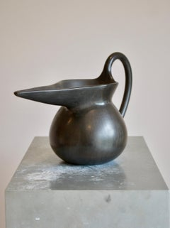 Black Bucchero Ceramic Vase  Designed by Gio Ponti
