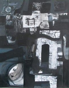 Hypogeum, 2019. Acrylic on canvas abstract painting