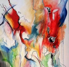 Overlay:  Contemporary Large Abstract Painting