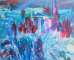 San Fransisco From Alcatraz. Abstract Expressionist Painting