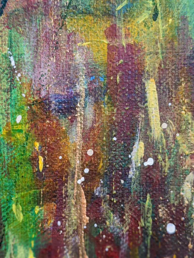 Flowers 5:  Contemporary Expressionist Painting For Sale 2