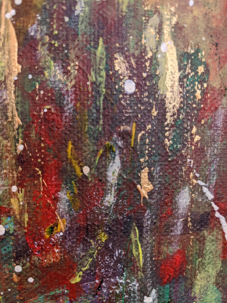 Flowers 5:  Contemporary Expressionist Painting For Sale 5