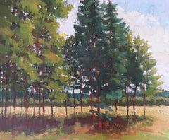 """""""Edge Of The Trees"""": Contemporary English Landscape, Framed Oil On Canvas"""
