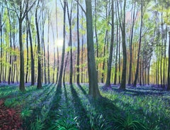 Morning Bluebells.  Contemporary Landscape Painting