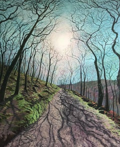 Walking The Path Of Shadow And Light.  Contemporary Landscape Painting