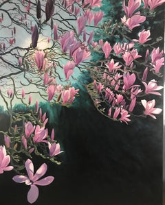 Magnolia Passion.  Contemporary Landscape Painting