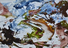 Below Beinn Dearg, Contemporary Abstract  Scottish Landscape by James Hawkins