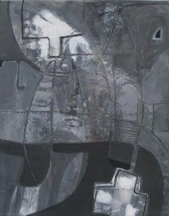 Tenemos/Vallum, 2018. Acrylic on canvas abstract painting