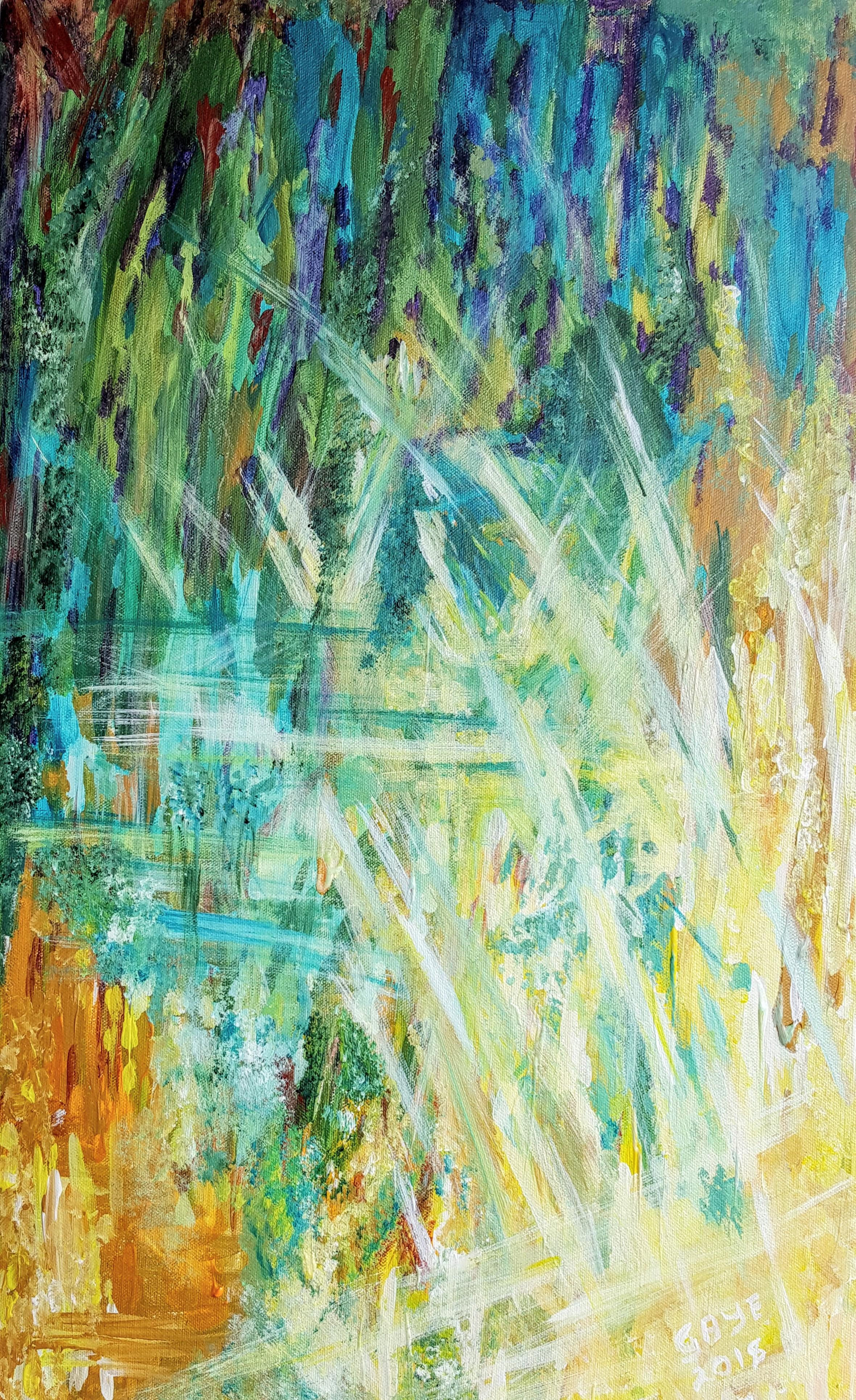 Corn In The Sun:  Contemporary Oil painting