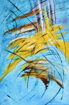 Reeds Sun and Water:  Contemporary Impressionist Painting