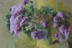 Wild Lilac:  Contemporary Still Life, Oil On Canvas