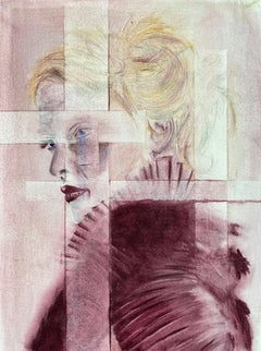 Layers of Separation #1 #2  Contemporary Figurative Watercolour