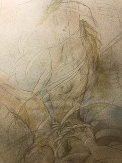 Contemporary Figurative Drawings and Watercolors