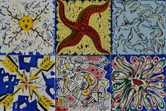 """La Suite Catalane"" Set of 6 Salvadore Dali Designed Tiles. 1954"