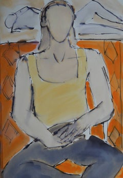 Romy: Contemporary Mixed Media Figurative Painting by John Emanuel
