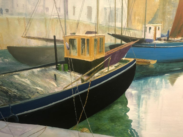 Tranquil Harbour. Large Contemporary Landscape Painting 4