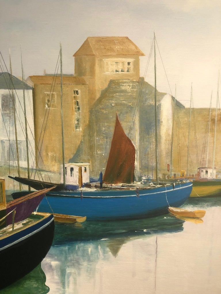 Tranquil Harbour. Large Contemporary Landscape Painting 2