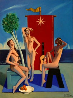 The Three Graces IV    Contemporary Figurative Oil Painting