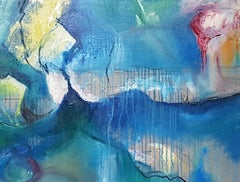 The Ceaseless Myth of Moving Waves  Contemporary  Abstract Painting