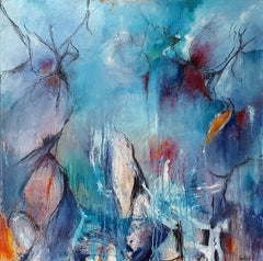 The Listening Sea:  Contemporary Abstract Oil Painting