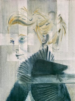 Layers of Separation #2 #2  Contemporary Figurative Watercolour