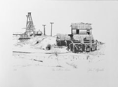 The Vulture Mine by John Fitzgerald, Arizona desert scene black and white print