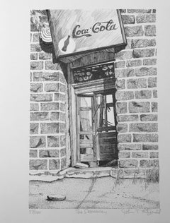 The Doorway by John Fitzgerald, Jerome Old West Arizona Coca Cola sign print