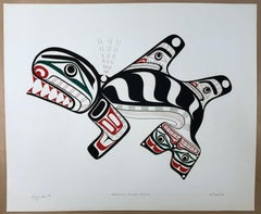 Kwakiutl Killer Whale,color serigraph,screen print edition, First Nations,Canada