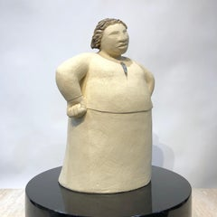 Whaea- The Matriarch, ceramic figurative sculpture, female, clay, Maori woman