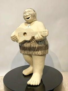 Waita - Song, Contemporary Maori Sculpture, Aotearoa, facial moko, tatoo, male