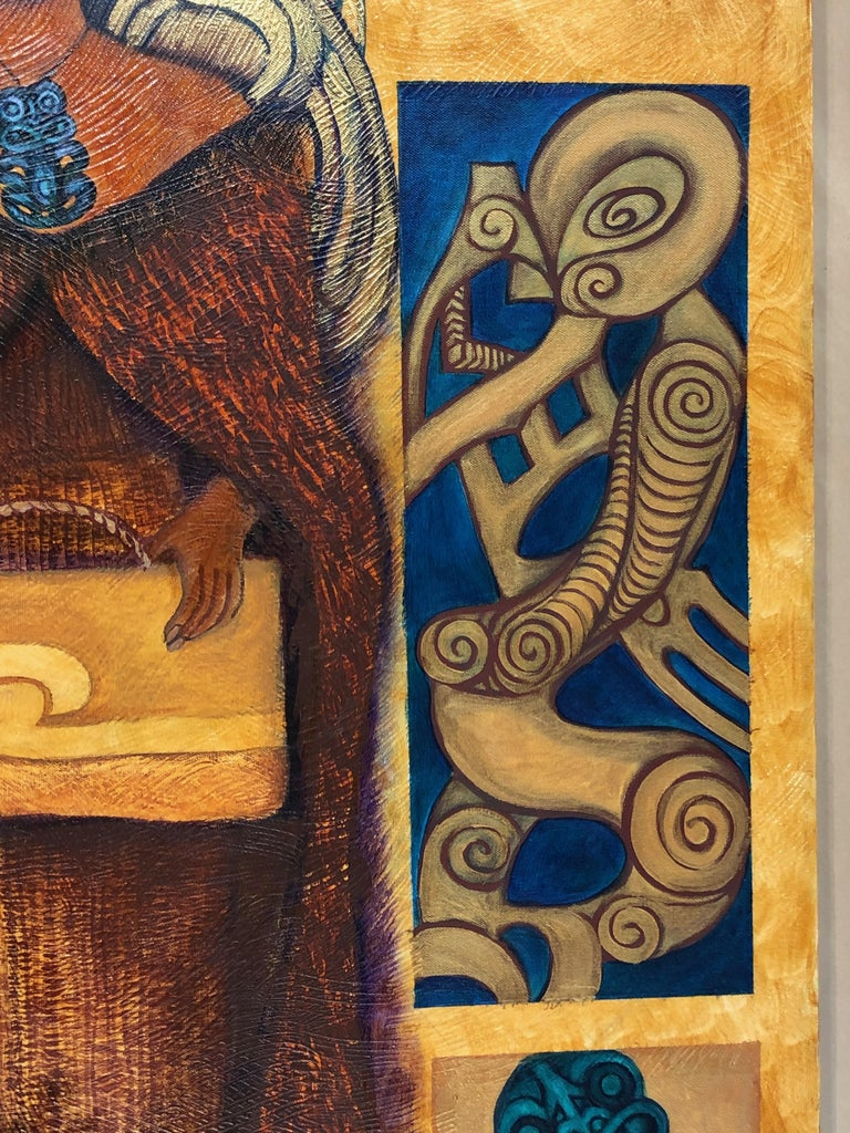Legacy Series: Leaving Behind, contemporary painting, Maori art, figurative  For Sale 2