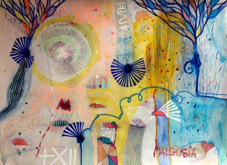 Sweet Emotions Mixed Media on Paper - Mixed Media Art by Malgosia Kiernozycka