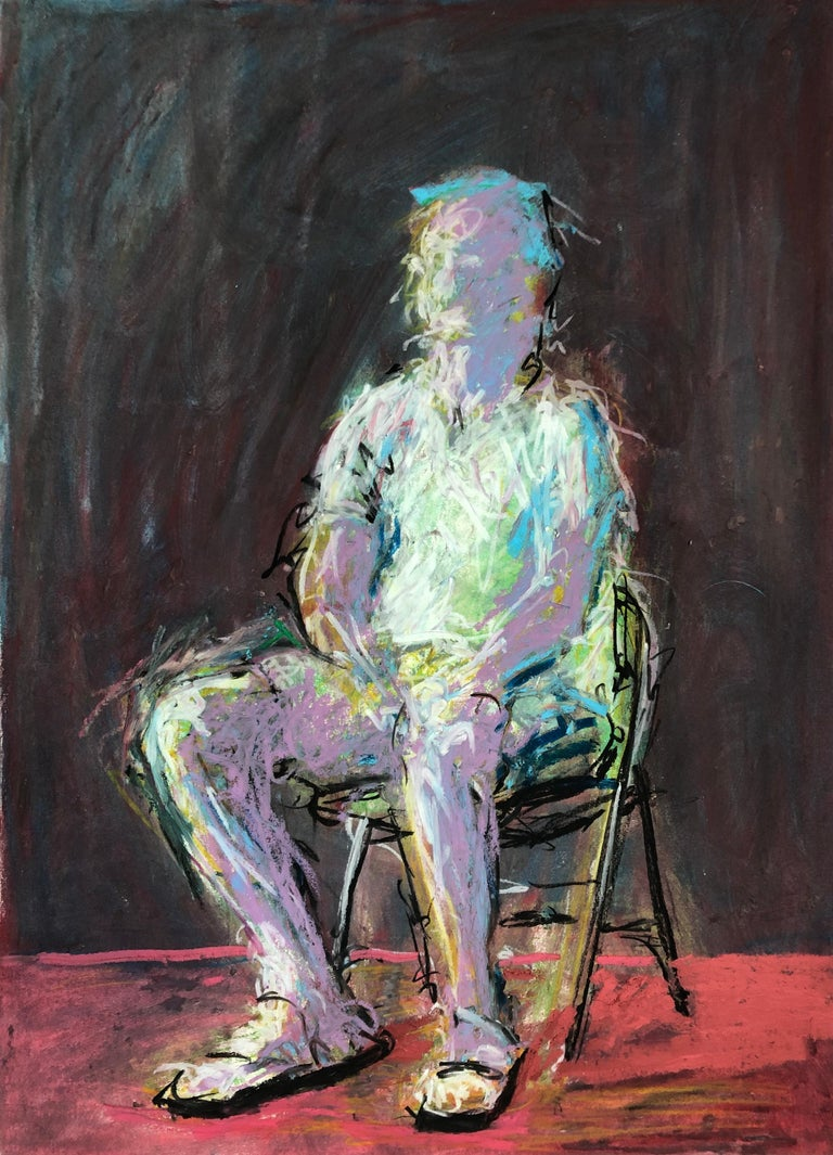 Rafael Saldarriaga Figurative Painting - Man In The Chair