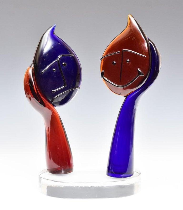 Silvano Signoretto Figurative Sculpture -  Glass Sculpture Happy Face