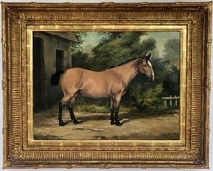 Antique English Horse Portrait Painting