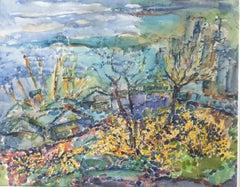Vibrant Landscape Watercolor