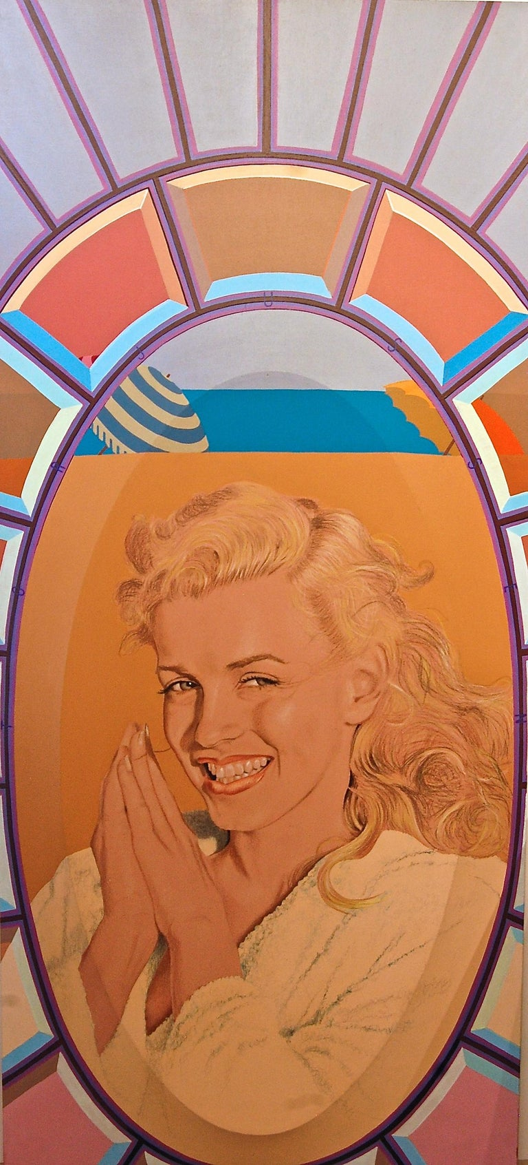 George Torjussen  Figurative Painting - Marilyn In Terry Cloth Robe Norma Jean