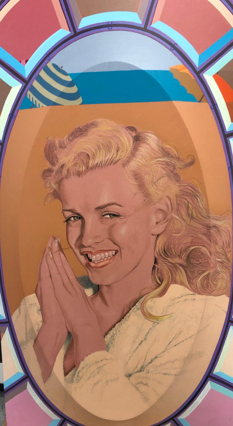 Marilyn In Terry Cloth Robe Norma Jean Large 2D Canvas 2