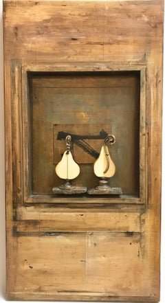 Two Pears on Stage 3D Mixed Media Wall Art